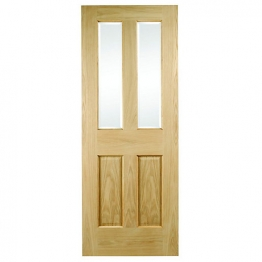 Hardwood Oak Malton No Raised Mouldings Glazed Internal Door 1981mm X 762mm X 35mm