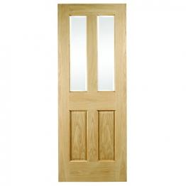 Hardwood Oak Malton No Raised Mouldings Glazed Internal Door 1981mm X 838mm X 35mm