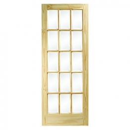 Softwood Sa77 15 Light Glazed Clear Pine Internal Door 1981mm X 762mm X 35mm