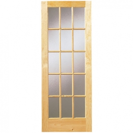 Softwood Sa77 15 Light Glazed Clear Pine Internal Door 1981mm X 838mm X 35mm