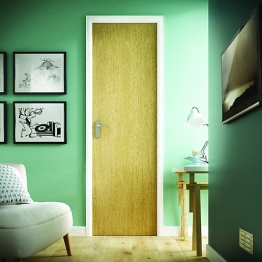 Flush Oak Veneer Hollow Core Internal Door 1981mm X 610mm X 35mm