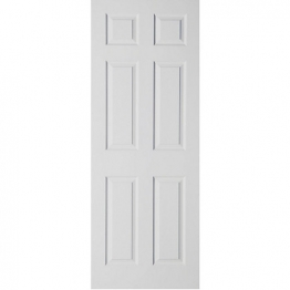 6 Panel Moulded Smooth Fire Fd30 2040mm High