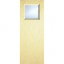 Internal Flush Pwd Paint Grade Fd30 Fire Door 1g Glazed Georgian 2040mm X 826mm X 44mm