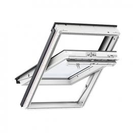 Velux Centre Pivot Roof Window 660mm X 1180mm White Polyurethane Ggu Fk06 0070q