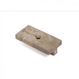 Upm Profi T-clip Silver Green 1 Hole Box 100