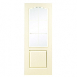 Moulded 6 Light Arch Top Grained Glazed Internal Door 1981mm X 686mm X 35mm