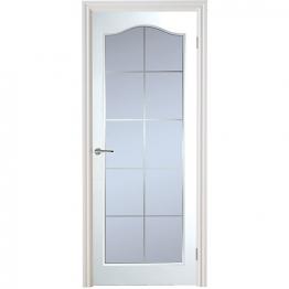 Manhattan 10 Light Arch Top Textured White Leaded Standard Core Internal Door 1981mm X 762mm X 35mm