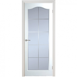 Moulded Manhattan 10 Light Arch Top Textured White Leaded Standard Core Internal Door 1981mm X 686mm X 35mm