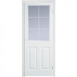 Moulded 6 Panel Smooth Glazed Internal Door 1981mm X 762mm X 35mm
