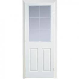 Moulded 6 Panel Smooth Glazed Internal Door 1981mm X 686mm X 35mm