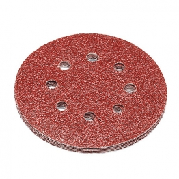 Punk 8 Hole 125mm Abrasive Sanding Discs 40 Grit Pack Of 5