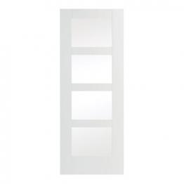 Moulded Suffok Glazed White Internal Door 1981mm X 686mm X 35mm