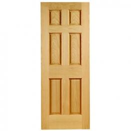 Oak Colonial 6 Panel Non Raised Mouldings Fd30 Internal Fire Door 1981mm X 762mm X 44mm