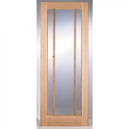 Hardwood Oak Ripon 3 Light Glazed Internal Door 1981mm X 762mm X 35mm