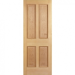 Hardwood Oak Devon 4 Panel Raised Mouldings Internal Door 1981mm X 686mm X 35mm