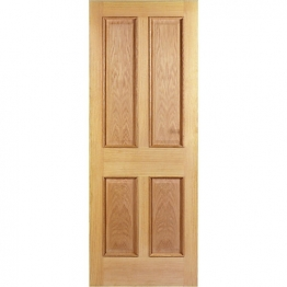 Hardwood Oak Devon 4 Panel Raised Mouldings Internal Door 1981mm X 838mm X 35mm