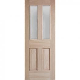 Moulded Oak Devon 4 Panel Raised Mouldings Glazed Internal Door 1981mm X 762mm X 35mm