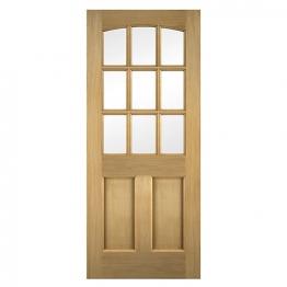 Georgia Oak Veneer Glazed External Door 1981mm X 762mm X 45mm