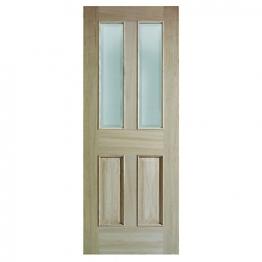 Moulded Oak Devon 4 Panel Raised Mouldings Glazed Internal Door 1981mm X 838mm X 35mm
