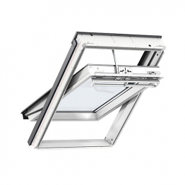 Velux Integra Electric Roof Window 550mm X 780mm White Polyurethane Ggu Ck02 006021u