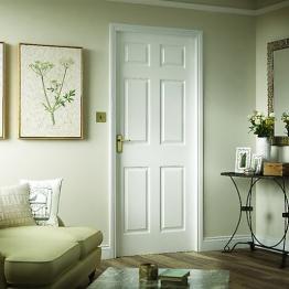 Moulded 6 Panel Smooth Fd30 Door 2040mm X 826mm X 44 Mm
