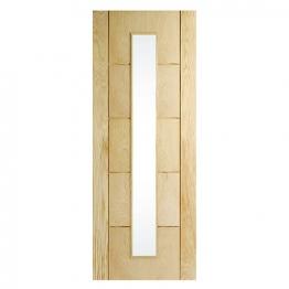 Hardwood Oak 5 Groove Glazed Internal Door 1981mm X 762mm X 35mm