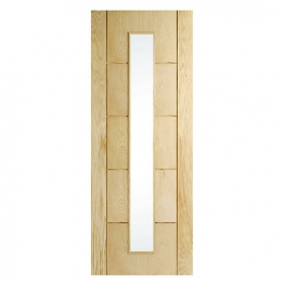Hardwood Oak 5 Groove Glazed Internal Door 1981mm X 838mm X 35mm