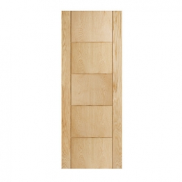 Hardwood 5 Groove Oak Internal Door 1981mm X 762mm X 35mm
