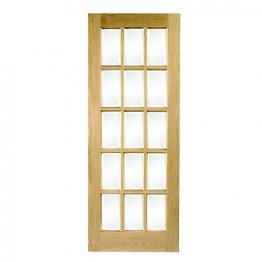Hardwood Oak Sa77 15 Light Glazed Internal Door 1981mm X 762mm X 35mm