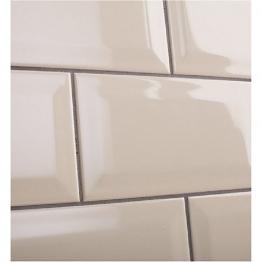 Johnson Tiles Bevel Brick Gloss White Tile 200mm X 100mm X 7.5mm