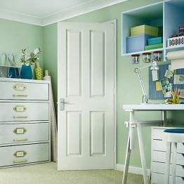 Internal Moulded 4panel Smooth Fd30 Door 2040mm X 826mm X 44mm