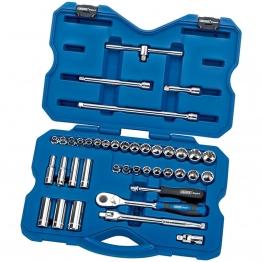 """3/8"""" Sq. Dr. Mm/af Combined Socket Set (40 Piece)"""