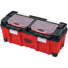 Expert 660mm Tool Box With Organisers And Tote Tray