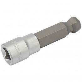"""Expert 12mm 3/8"""" Sq. Dr. Metric Ball End Hexagonal Socket Bits"""