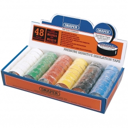 Expert Countertop Display Of 48 Assorted 10m X 19mm Insulation Tape Rolls To Bs3924 And Bs4j10