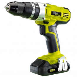 Cordless Hammer Drill With Two 18v 1.5ah Li-ion Battery