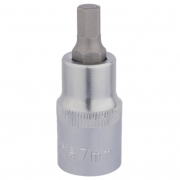 "1/2"" Sq. Dr. Hexagonal Socket Bits (7mm)"
