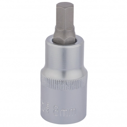 "1/2"" Sq. Dr. Hexagonal Socket Bits (8mm)"
