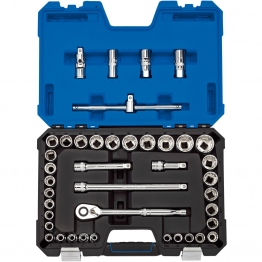 "1/2"" Sq. Dr. Mm/af Combined Socket Set (41 Piece)"