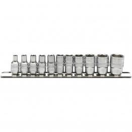 "1/4"" Sq. Dr. Imperial Sockets On Metal Rail (11 Piece)"