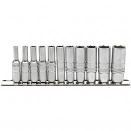 "1/4"" Sq. Dr. Imperial Deep Sockets On Metal Rail (11 Piece)"