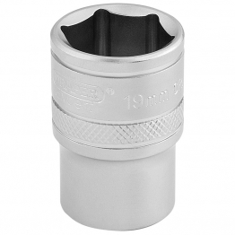 "1/2"" Square Drive 6 Point Metric Socket (19mm)"