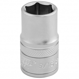 """1/2"""" Square Drive 6 Point Imperial Socket (9/16"""")"""