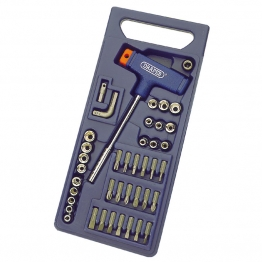 T Handle Screwdriver And Socket Set (41 Piece)