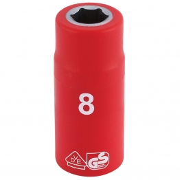 """1/4"""" Sq. Dr. Fully Insulated Vde Socket (8mm)"""