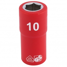 """1/4"""" Sq. Dr. Fully Insulated Vde Socket (10mm)"""