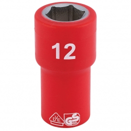 """1/4"""" Sq. Dr. Fully Insulated Vde Socket (12mm)"""