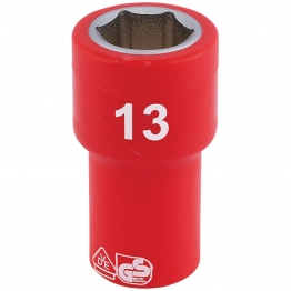 """1/4"""" Sq. Dr. Fully Insulated Vde Socket (13mm)"""