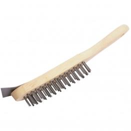 290mm 4 Row Wire Scratch Brush With Scraper