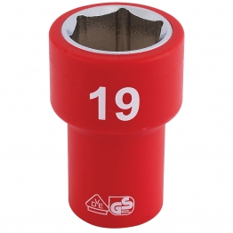 """3/8"""" Sq. Dr. Fully Insulated Vde Socket (19mm)"""